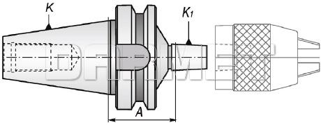 Trzpień wiertarski BT40 - B16 - APX (5373)