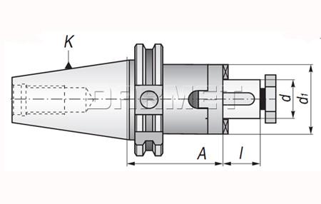 Trzpień frezarski uniwersalny DIN69871 (APX-7301)