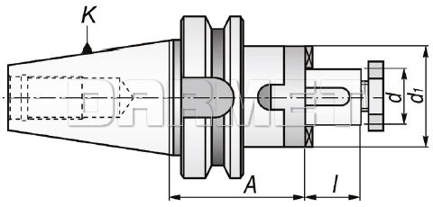 TTrzpień frezarski uniwersalny BT40-27C-55MM - APX (7361)
