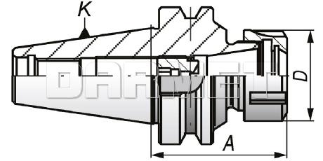 Oprawka zaciskowa do tulejek ER32 - BT40 - 70MM - APX (7626)