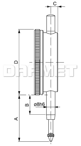 Czujnik zegarowy - 5/0,01MM (512-041)