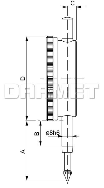 Czujnik zegarowy - 10/0,01MM (512-063)