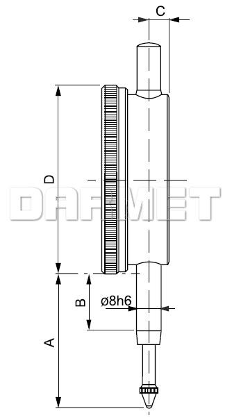 Czujnik elektroniczny 10/0,01MM (540-105)
