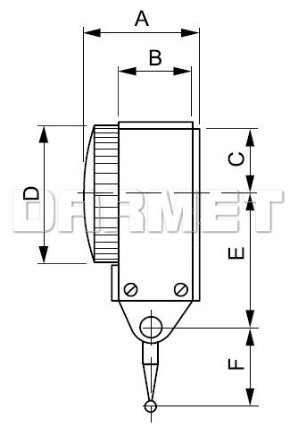 Czujnik (diatest) dźwigniowy uchylny zegarowy poziomy 0,8MM (560-011)
