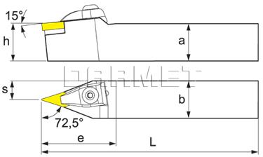 Nóż tokarski składany do toczenia zewnętrznego: DVVNN-2525-M16