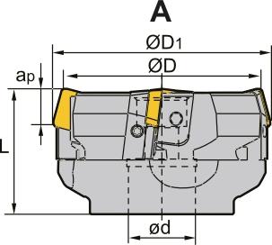 Frez składany nasadzany czołowy 80 x 27 MM (FC75SP)