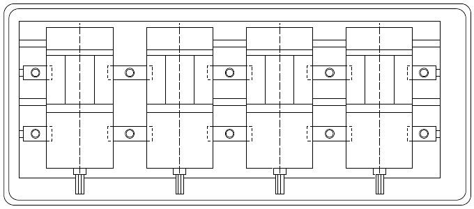 Imadło maszynowe 160mm - FPQ160/140