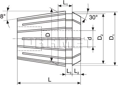 Tulejka zaciskowa ER16 - 2MM