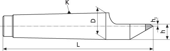 Kieł tokarski stały - Morse 2 (DHE2)