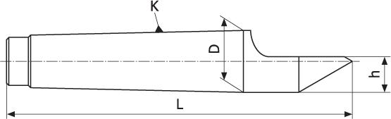 Kieł tokarski stały - Morse 4 (DH4)