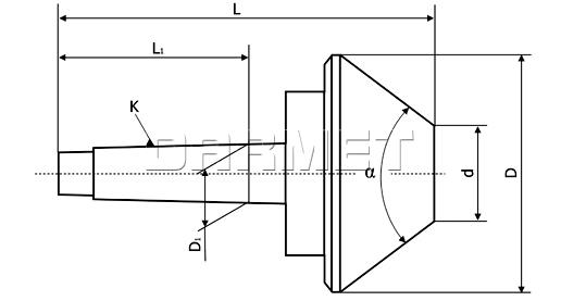 Kieł obrotowy centrujący 60 st., Morse 5 - 120 mm (DS5X120)