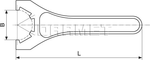 Klucz hakowy do oprawek do tulejek zaciskowych ER40 - APX
