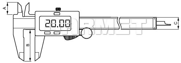 Suwmiarka elektroniczna - 150MM
