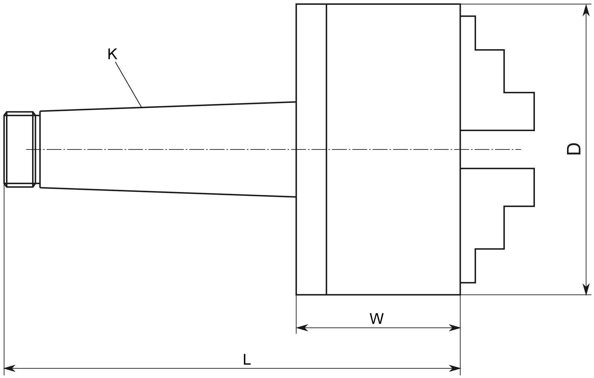 uchwyt tokarski żeliwny 3-szczękowy DARMET