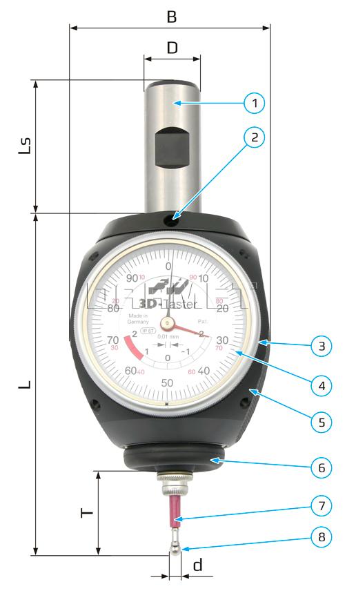 Czujnik 3D Haimer 80.360.00.FHN