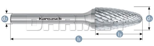 Pilnik obrotowy łukowy z czołem łukowym - Karnasch (113051)