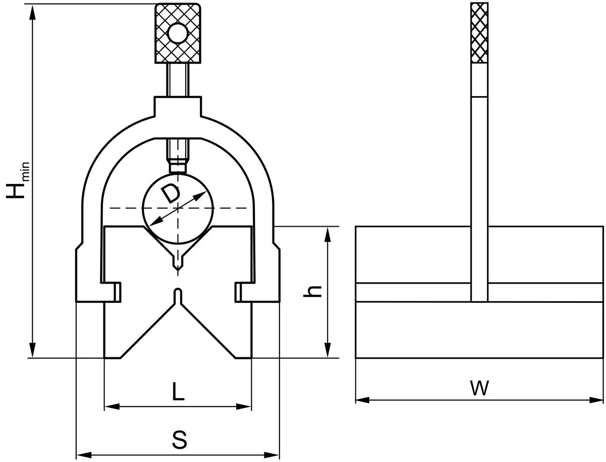Pryzma traserska 33MM, z zaciskiem (VZ33A)