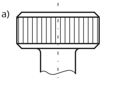 Radełko o rowkach prostych - typ A