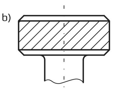 Radełko o rowkach śrubowych